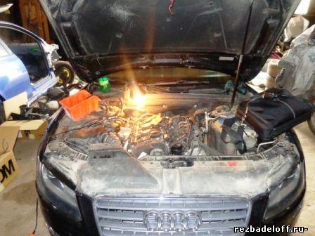 Автомобиль ауди а 5 восстановление резьбы в головке блока под болт крепления м6